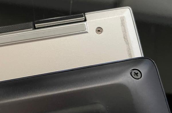 Different types of screws on modern laptops