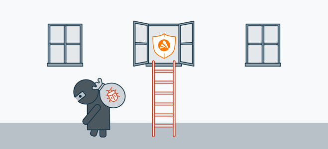 Keeping your software updated shields you against vulnerabilities.