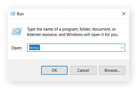 """Run form with """"temp"""" typed in."""