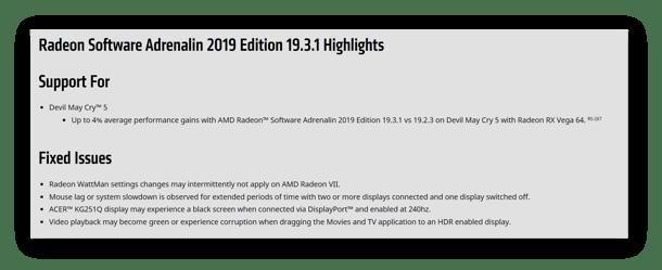 AMD driver updates
