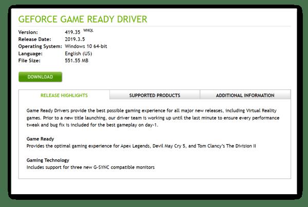 NVIDIA Driver Updates