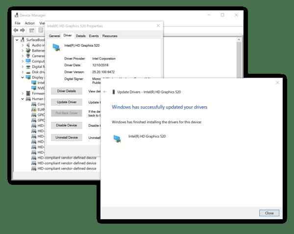 Updating Intel HD device drivers