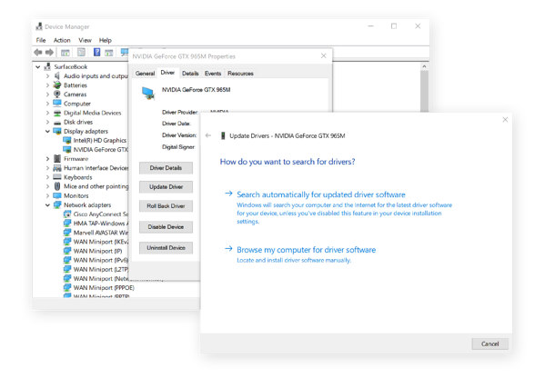 Device Manager automatic updates