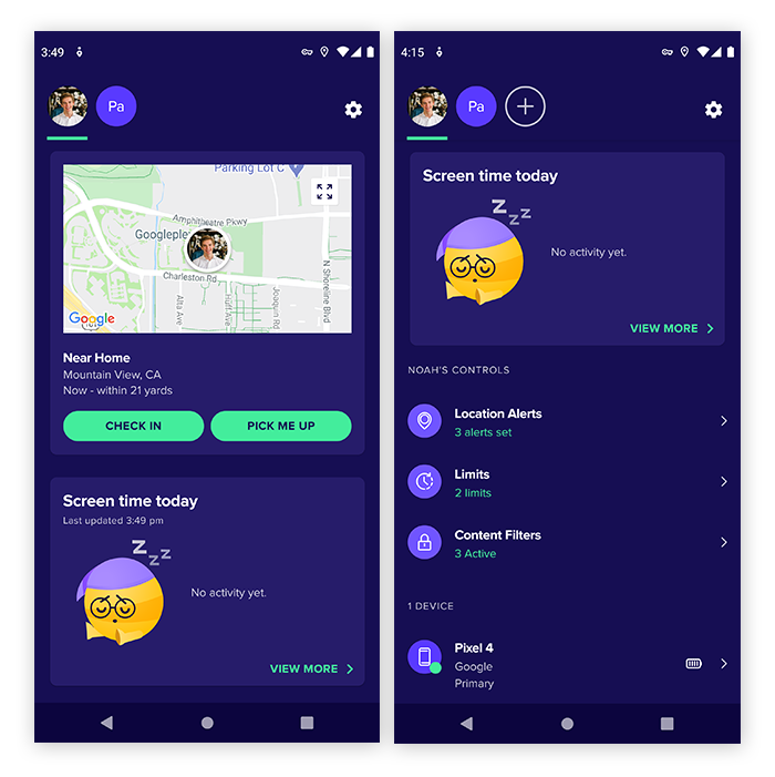 Avast Family Space includes GPS location technology and screen time monitoring.