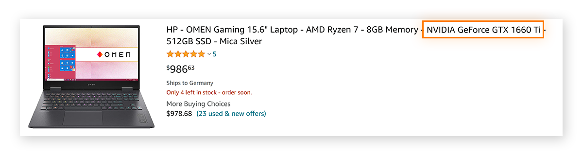 Laptop with dedicated graphics card