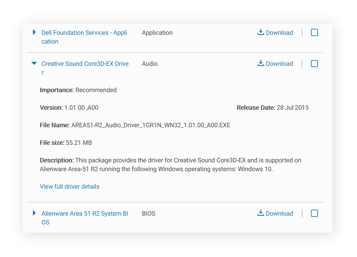 Dell audio driver download