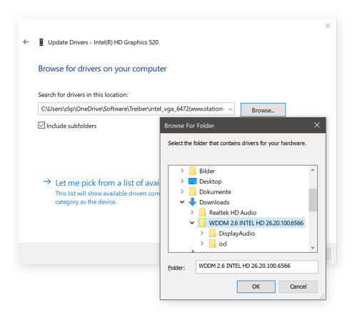 Pointing Device Manager to the right driver files