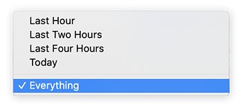 "Select a time range to clear your cache. We suggest ""everything."""