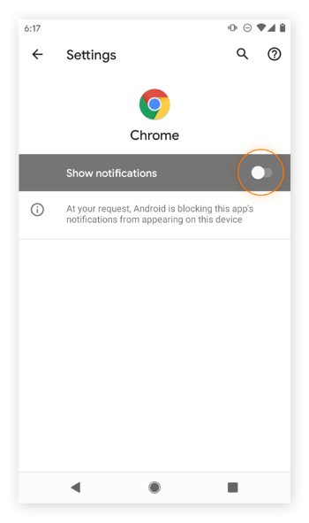 Blocking 100% of Google Chrome notifications on Android.