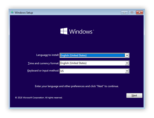 Windows 7/10 installation