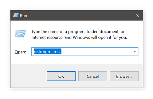 Running Disk Management
