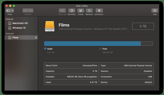 Using Disk Utilitiy to format internal or external disks