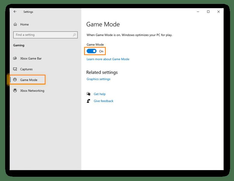 Enabling Windows Game Mode in Windows 10