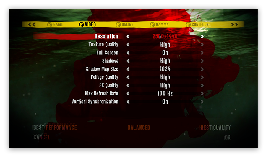 Adjusting resolution settings to boost FPS in Dead Island.