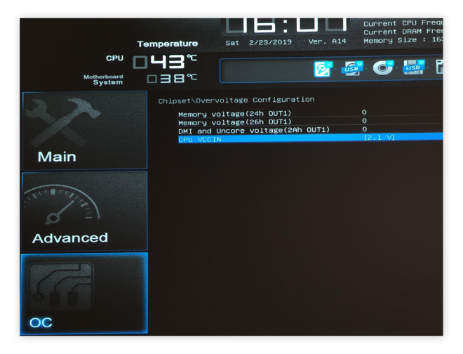 Increasing the voltage under your UEFI / BIOS to support a stable overclock.
