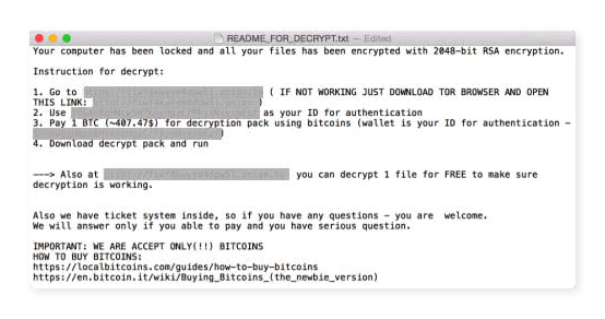 The KeRanger ransomware strain infects Macs via a BitTorrent client for Apple computers.