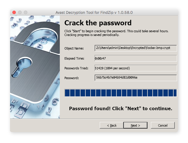 The Avast Decryption Tool for FindZip helps recover files encrypted by the FindZip strain of ransomware.