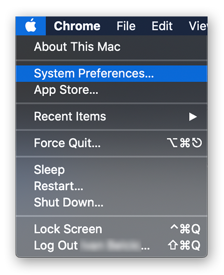 Opening the System Preferences from the Apple Menu in macOS Catalina