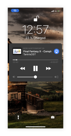 iOS lockscreen without transparency effects