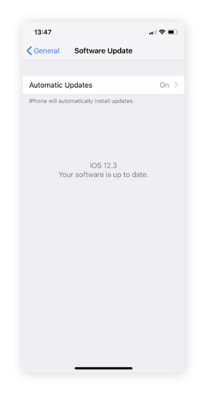 Checking for new iOS updates
