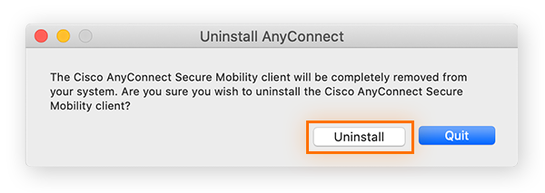 An uninstaller for Cisco AnyConnect.