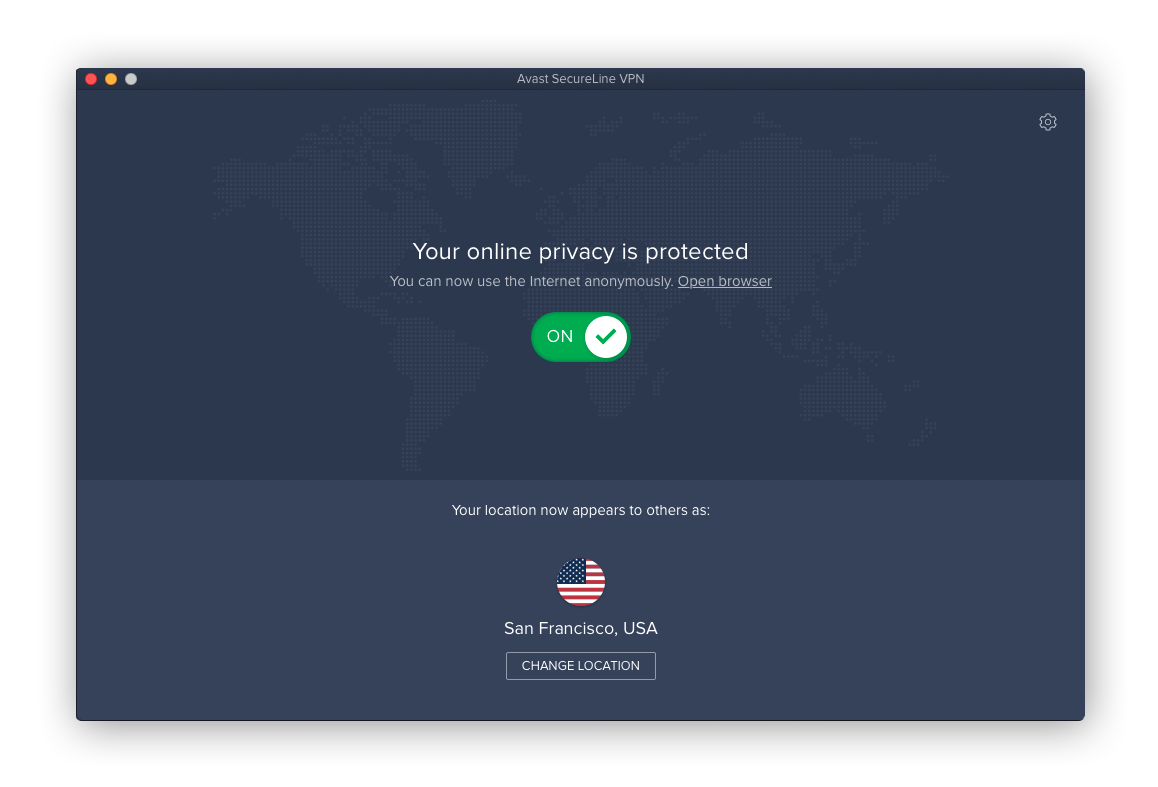Avast SecureLine VPN for macOS