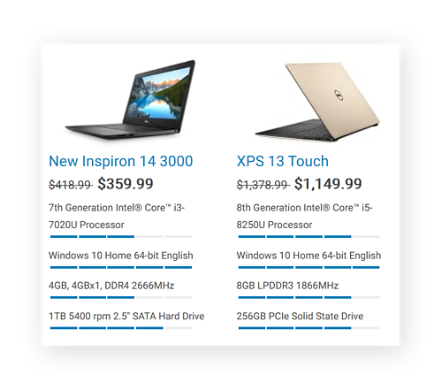 Laptops are available with SSDs and HDDs