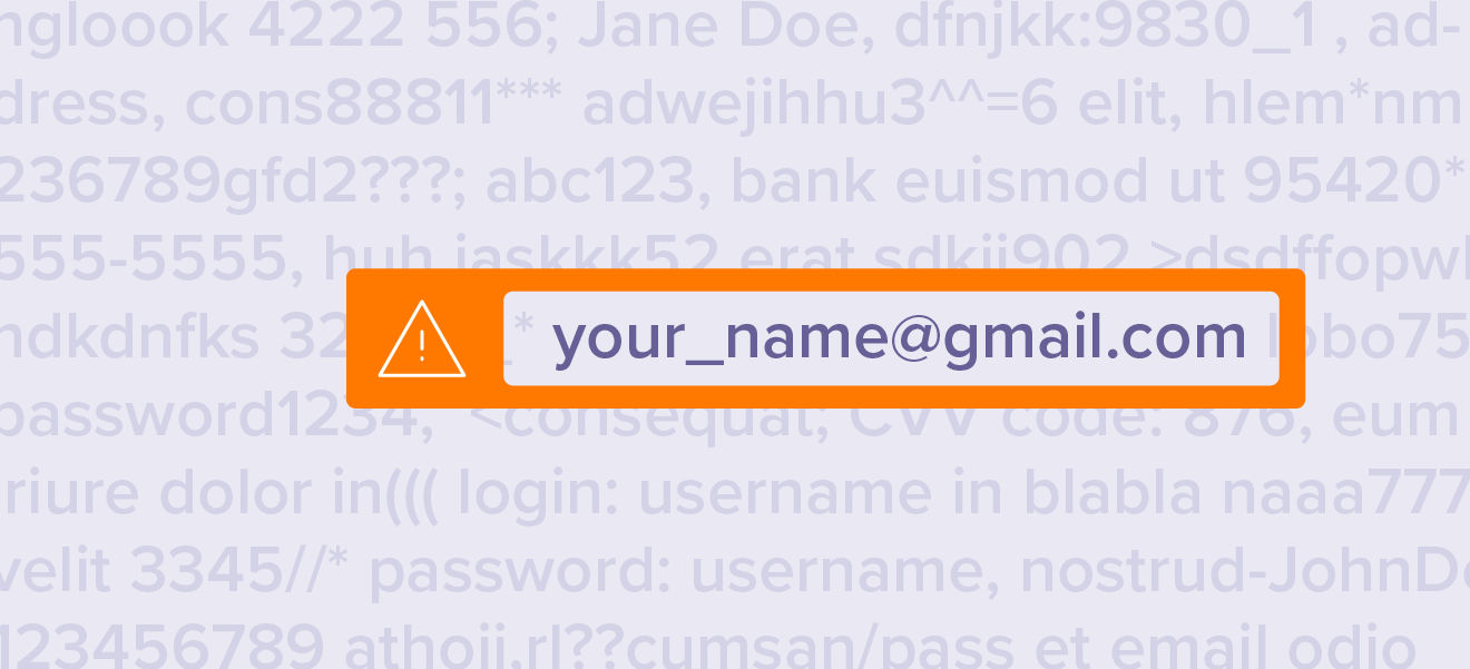 If your credentials leak in a data breach, they may end up on the dark web.