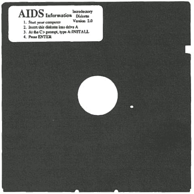 The AIDS Trojan was the first case of ransomware, distributed via floppy disks delivered through postal services.