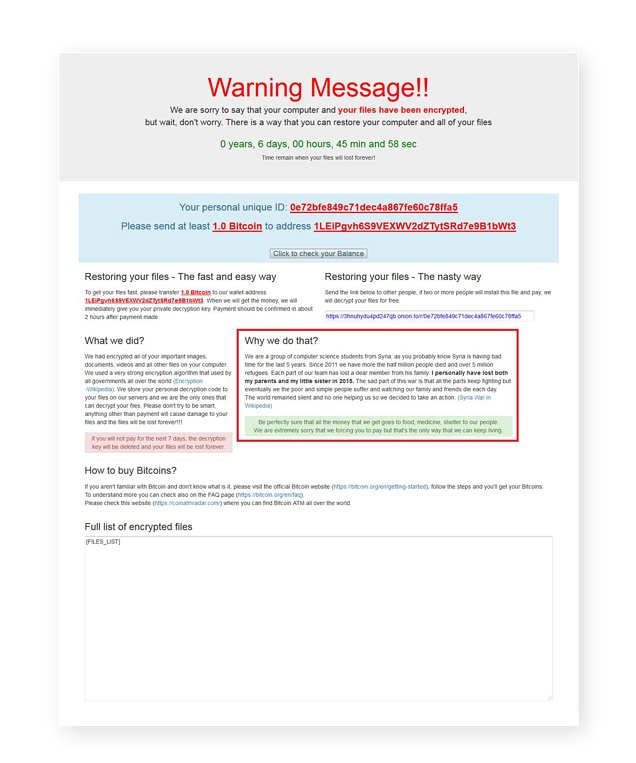 image11The Popcorn Time ransomware strain tries to get its victims to spread the virus.