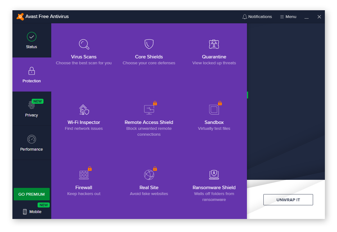 Avast Free Antivirus has loads of features to help prevent you from becoming a victim of tech support scams.