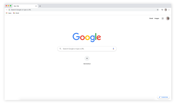 Screenshot of what a Google Chrome browser window looks like