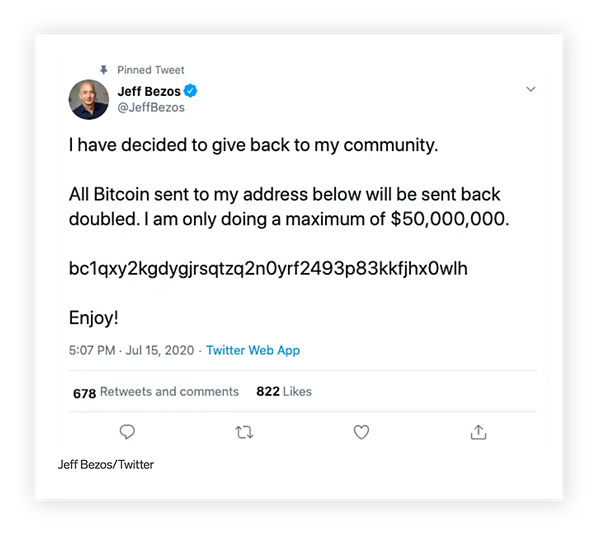 This successful spear phishing attack caught Jeff Bezos in its net.