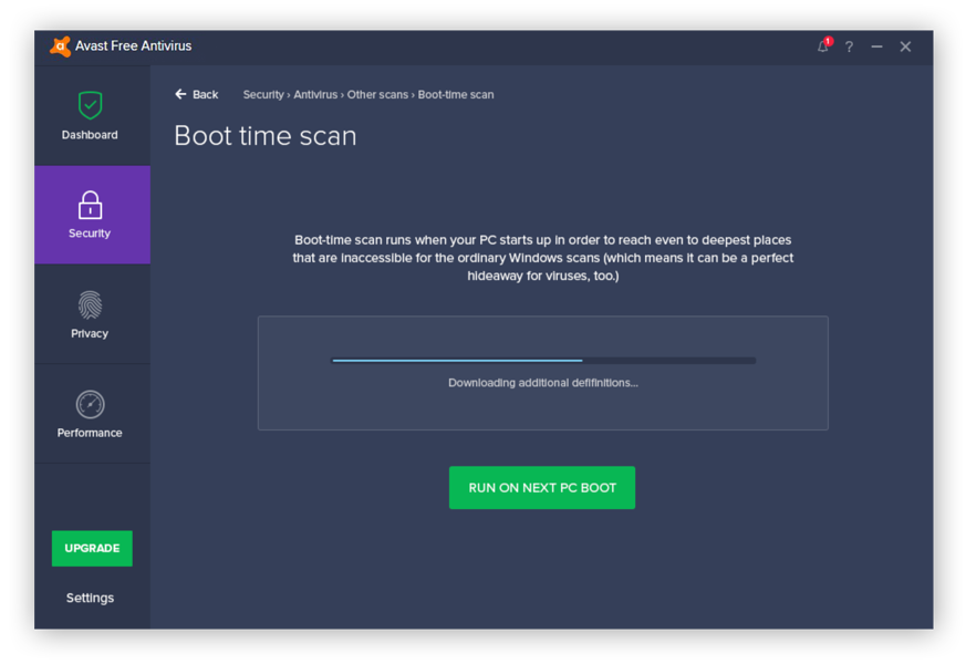 Run a boot time scan by Avast Free Antivirus to detect and remove rootkits hidden at the deepest levels.